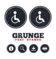 disabled sign icon human on wheelchair symbol vector image vector image