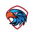 eagle head security logo vector image vector image