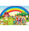 Family members living on the farm vector image