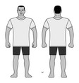 fashion man body full length template figure vector image