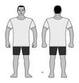 fashion man body full length template figure vector image