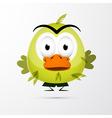 Funny Green Bird vector image vector image