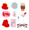 girl fashion accessories casual woman style vector image vector image