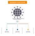globe network arrow news worldwide business flow vector image vector image