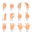 hands gesture human palm and fingers touch vector image
