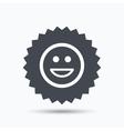 Happy smile icon Smiley laugh emoticon sign vector image