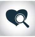 Heart checkup icon vector image