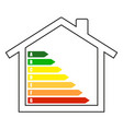 house building ecology flat style on white vector image