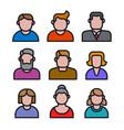human avatars set vector image vector image