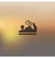 jointer icon on blurred background vector image vector image