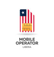liberia mobile operator sim card with flag vector image vector image