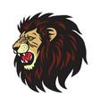 lion roaring logo cartoon vector image vector image