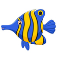 little fish cartoon vector image vector image