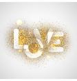LOVE gold letters Elegant background vector image