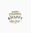 merry christmas abstract retro label logo vector image vector image