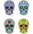 Mexican Sugar Skulls vector image vector image