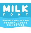 Milk font Rounded alphabet Soft letters ABC for vector image