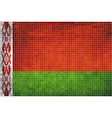 Mosaic Flag of Belarus vector image
