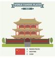 Mukden Palace Shenyang vector image vector image
