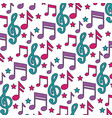 musical notes background festival music vector image