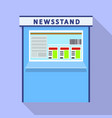 newsstand kiosk icon flat style vector image vector image