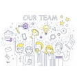 Our Success Team Linear Design vector image