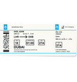 pattern of blue boarding pass vector image vector image