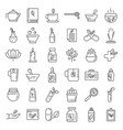 phytotherapy icons set outline style vector image vector image