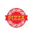 pizza-red-logo vector image vector image