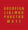 retro alphabet font vintage retro fonts alphabet vector image