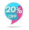 sale promo marketing 20 vector image vector image