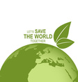Save the world poster design template vector image vector image