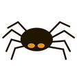 scary big black spider isolated on white vector image