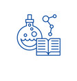 science line icon concept science flat vector image vector image