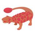 scolosaurus icon cartoon style vector image