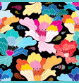 seamless graphic pattern with beautiful flowers vector image
