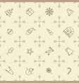 seamless outline christmas pattern vector image vector image