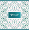 seamless pattern with simple line geometric vector image vector image