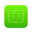 seo icon green vector image
