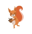 Squirrel Running With Acorn vector image vector image