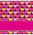 valentine background with pink and red lips vector image vector image