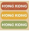 Vintage Hong Kong stamp set vector image vector image