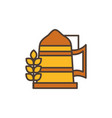 wheat drink oktoberfest icon line filled vector image vector image