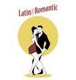young couple dancing bachata bn-01 vector image
