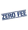 zero fee stamp vector image vector image