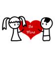 Be Mine cartoon vector image
