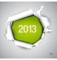 Torn paper with space for text 2013 vector image