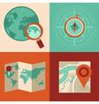 map set vector image
