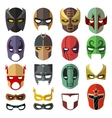 Superhero masks flat collection vector image