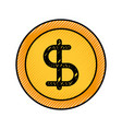 dollar money currency cash economy business vector image